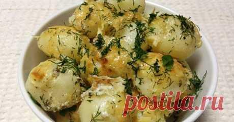 Как приготовить молодой картофель в духовке - рецепт, ингредиенты и фотографии