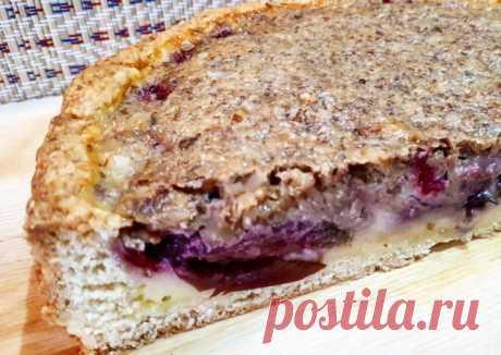 (17) Заливной пирог со сливами и грецкими орехами - пошаговый рецепт с фото. Автор рецепта Станиславна🌱🌳 . - Cookpad