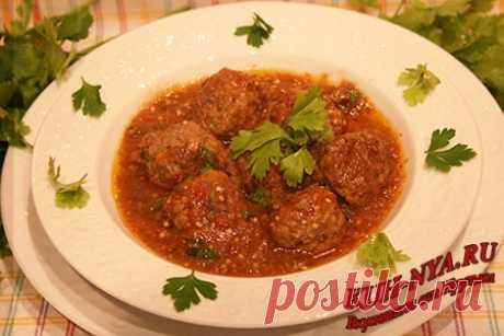 Тефтели в томатно- баклажановом соусе - Сборник кулинарных рецептов Вкусняшки от Ирульки