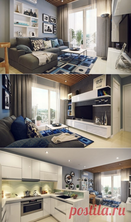 Design of the small cozy apartment - Interior design | Ideas of your house | Lodgers
