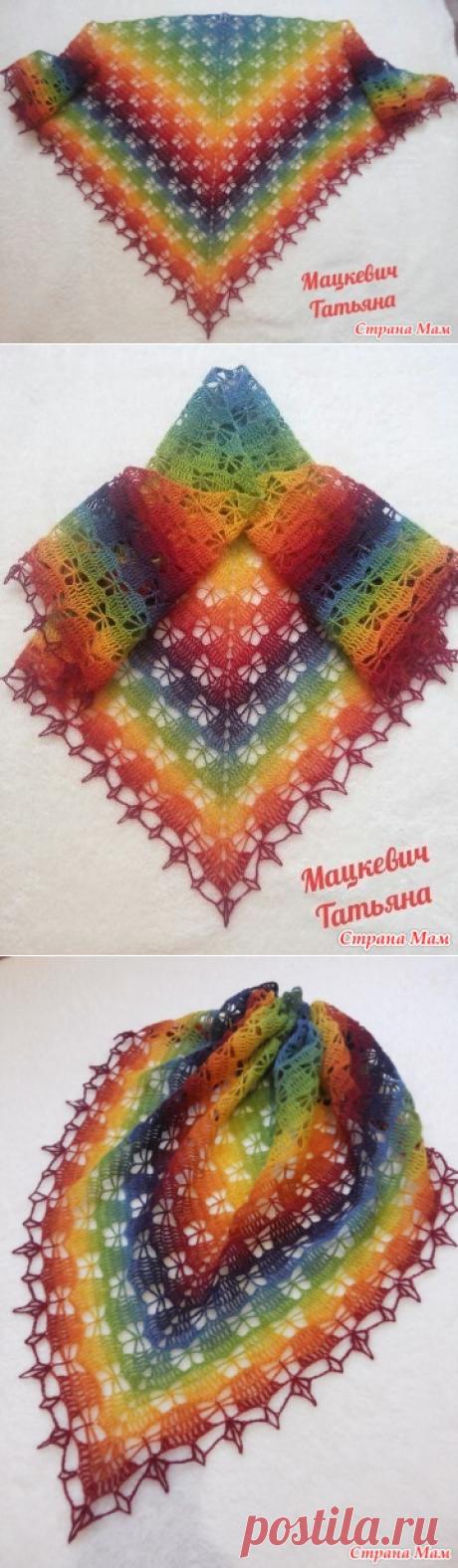 """Бактус """" Радужные бабочки"""" - Вязание - Страна Мам"""