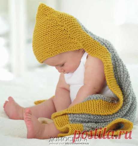 Детская накидка спицами | ДОМОСЕДКА