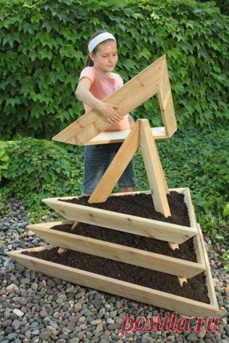 Идея для сада: сборная клумба / Вязание как искусство!