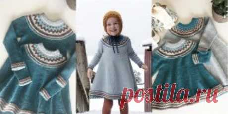 Детское платье с кокеткой Solveig - Вяжи.ру