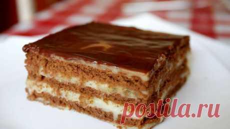 Шоколадно-банановый торт без выпечки — vkusno.co