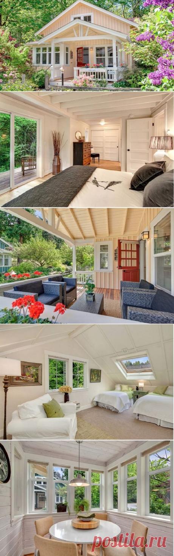 Этот дом совсем маленький, но его интерьер заставит каждого начать мечтать о таком же. Смотрим! | Тысяча и одна идея