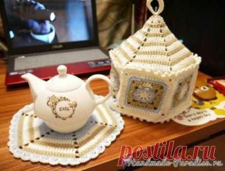 Hot-water bottle on a teapot a hook. Schemes. \/ handmade-paradise.ru