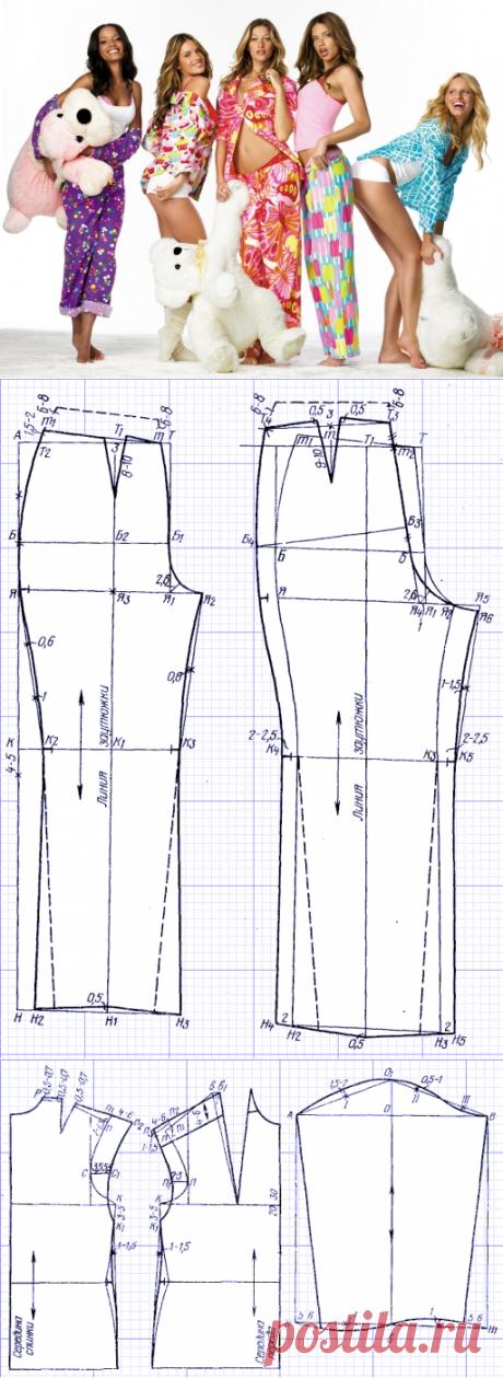 Как сшить женскую пижаму — пошаговая инструкция   oblacco
