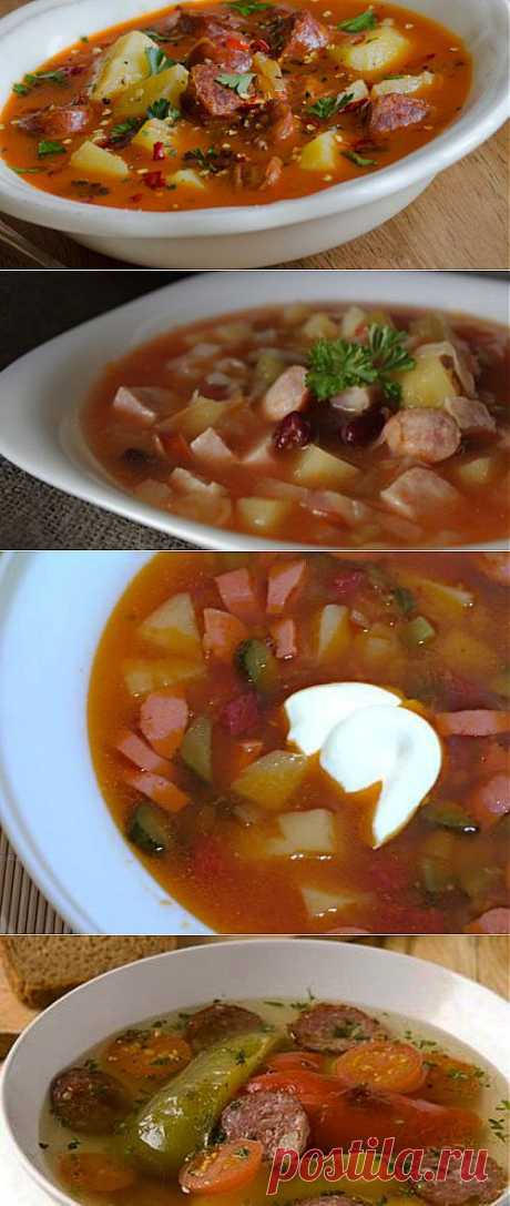 Sausage soups: 7 recipes of your lunch