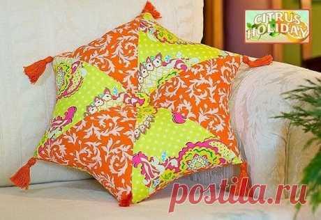 Шьем шестиугольную подушку (Шитье и крой) — Журнал Вдохновение Рукодельницы