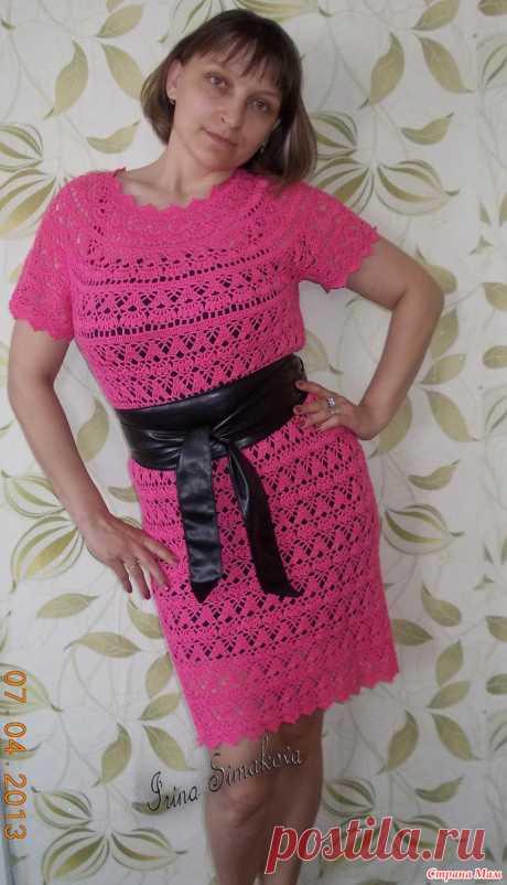 Платье крючком лилии