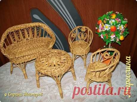 Doll furniture. Release of the second. Sofa and table. | Country of Masters