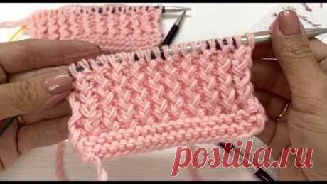 Резинка 1 на 1 хлебный колос 2 способа вязания на спицах
