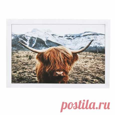 1 piece canvas print painting highland cow poster wall decorative printing art pictures frameless wall hanging decorations for home office Sale - Banggood.com