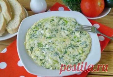 Omelet with cabbage