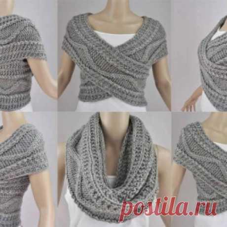 Как связать стильный шарф-трансформер: 2 способа со схемами и описанием - МирТесен