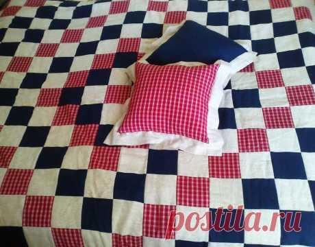 покрывало-одеяло и подушки, лен