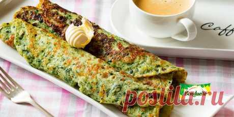 Сырные блинчики со шпинатом Рецепт - Сырные блинчики со шпинатом - с фото