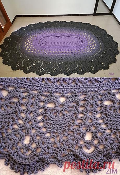 1000 идей для вязания спицами: Ковёр «Майское чудо»
