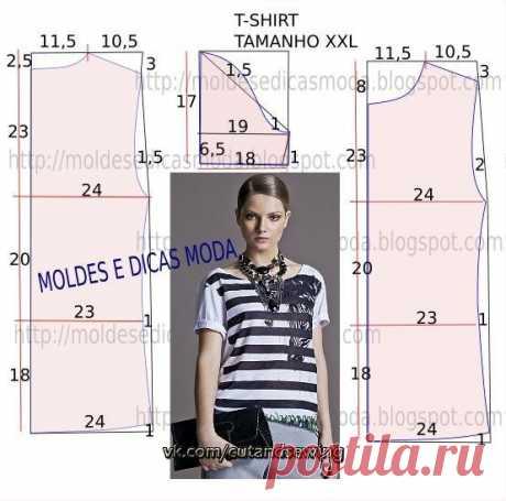 Выкройка женской футболки (Шитье и крой) — Журнал Вдохновение Рукодельницы
