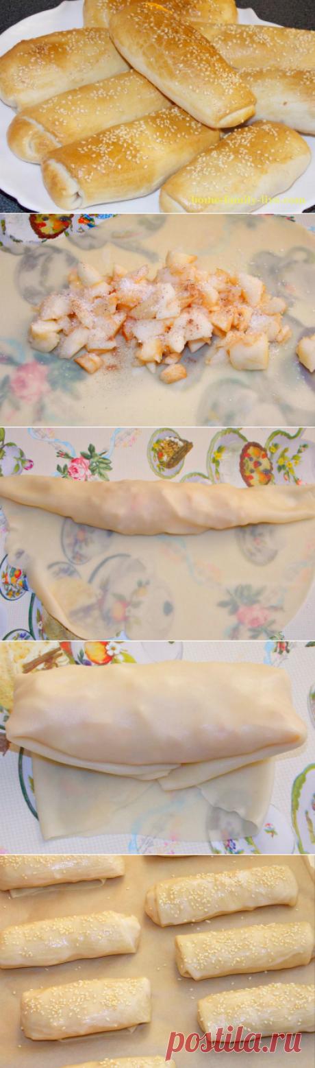 Слоеные пирожки с яблоками/Сайт с пошаговыми рецептами с фото для тех кто любит готовить