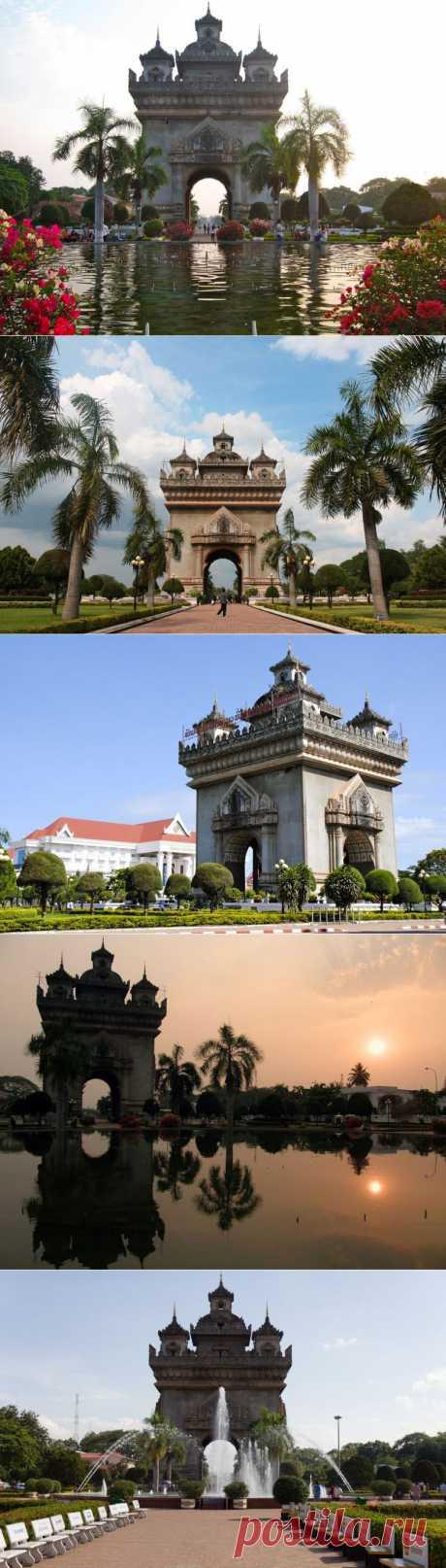 Лаосская Триумфальная арка / Туристический спутник