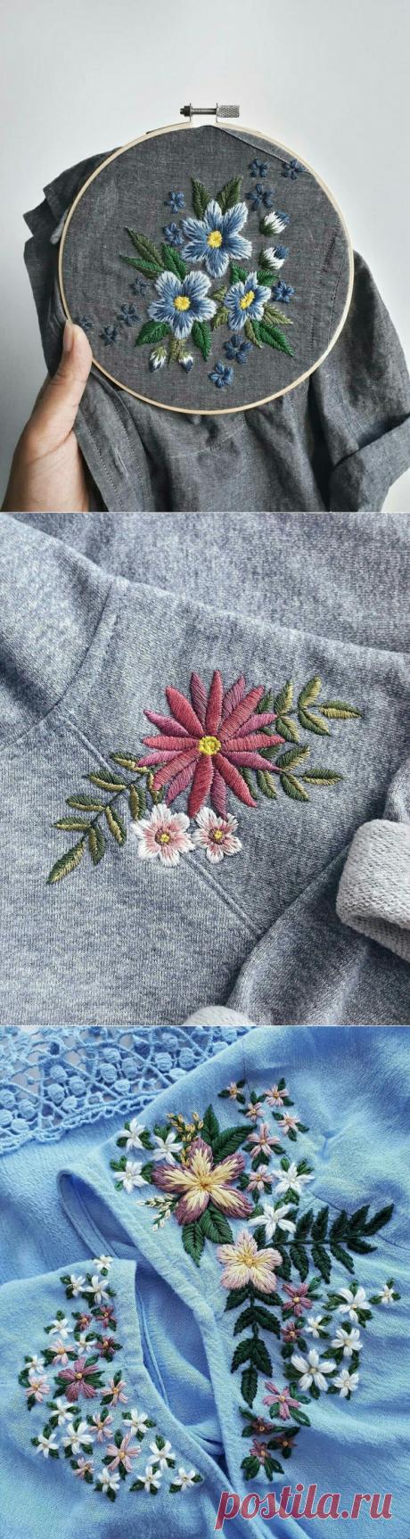 Лето уже скоро - идеи для вышивки летних вещиц