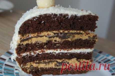 Шоколадный торт на раз, два, три...(можно в мультиварке) : Торты, пирожные
