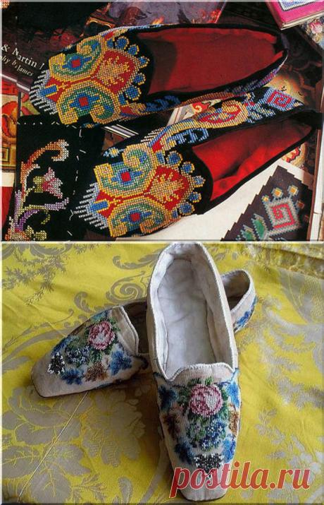 Роскошь старины - вышитые туфли