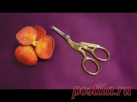 El BORDADO VOLUMÉTRICO (el CORTE de la flor) \\Сutting.STUMPWORK