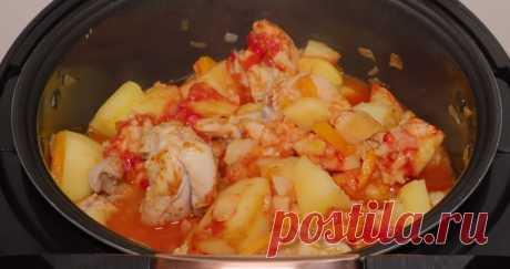 Готовим в мультиварке: жаркое из курицы с картофелем
