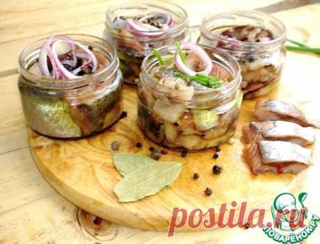 El arenque sazonado seco posola - la receta de cocina