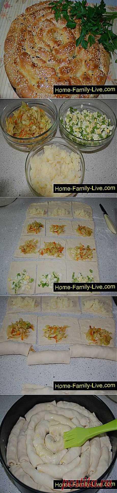 Las recetas de cocina del Piraguas el caracol - poshagovyy la fotoreceta - el pastel la sorpresa con los rellenos diferentes