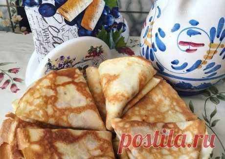 (9) Блинчики (тоненькие и очень вкусные)🥞🤗😍 - пошаговый рецепт с фото. Автор рецепта Марина Кащавцева🏃♂️ . - Cookpad