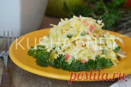 Салат с капустой, крабовыми палочками и яйцами. Рецепт с пошаговым фото   Кушать нет