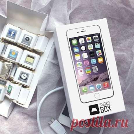 Вкусная версия самого популярного телефона выглядит точно так же как и оригинал, только стоит в 10 раз меньше! 😃 Шоколадный iPhone - это универсальный подарок. Купить конфеты можно кому-угодно! 😍