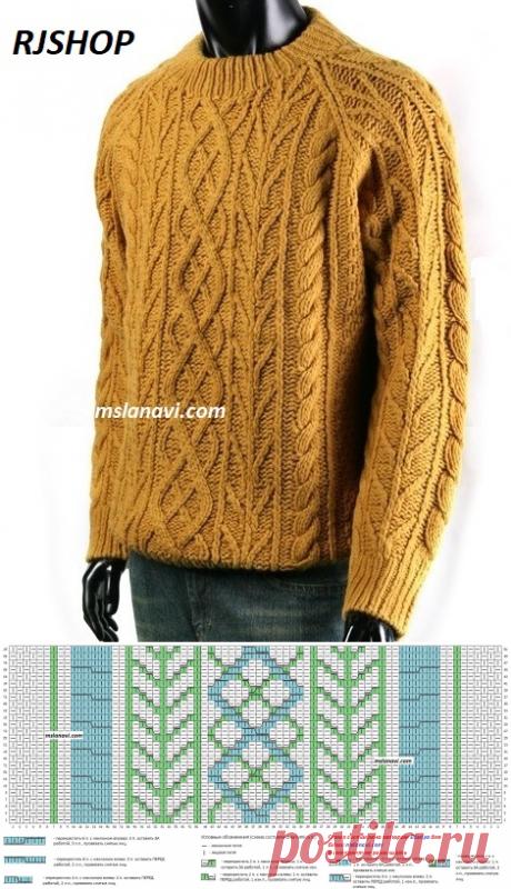 Мужской свитер | Вяжем с Лана Ви