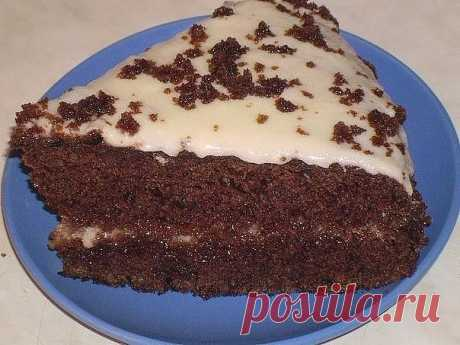 Очень вкусный торт «Черный принц»» на кефире   Самые вкусные кулинарные рецепты