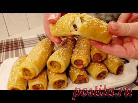 Хрустящие трубочки - закуска для пикника.