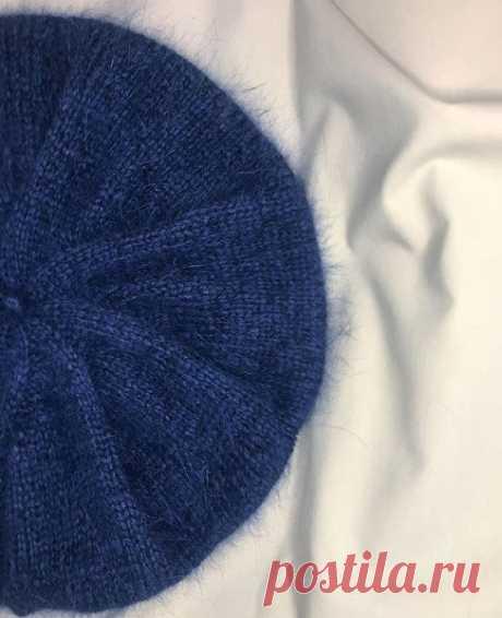 Берет из пуха норки спицами – 8 моделей вязания со схемами и описанием, видео — Пошивчик одежды