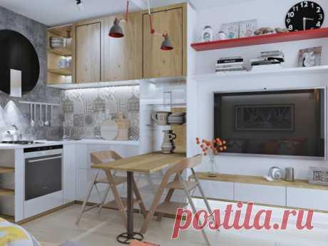 Все необходимое в компактном пространстве - квартира на 17 кв.м. — Lodgers - Дизайн интерьера