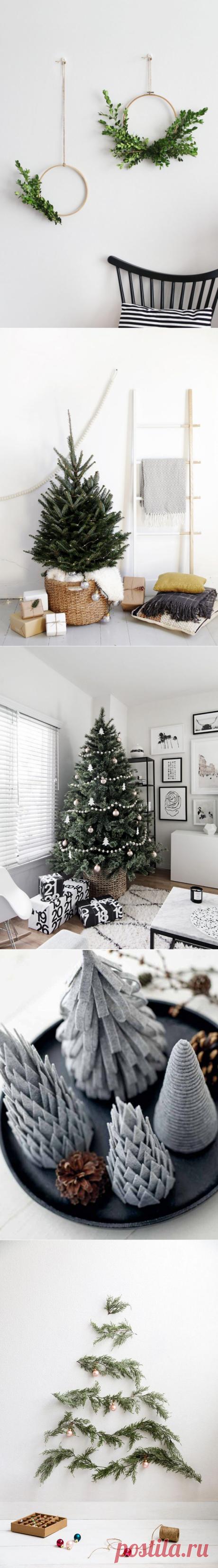 Минималистичный новогодний декор   Наши дома