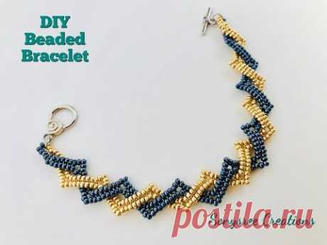Beaded Bracelet using only seed beads 💞
