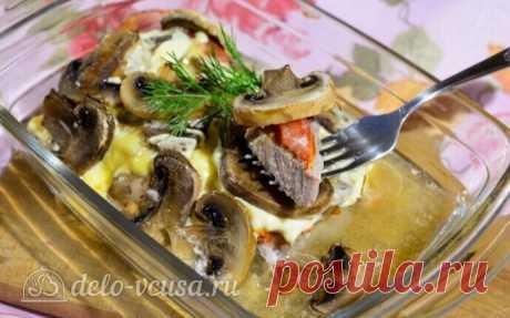 Мясо по-купечески в духовке, рецепт с фото