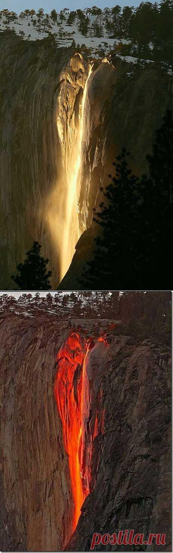 Fiery falls