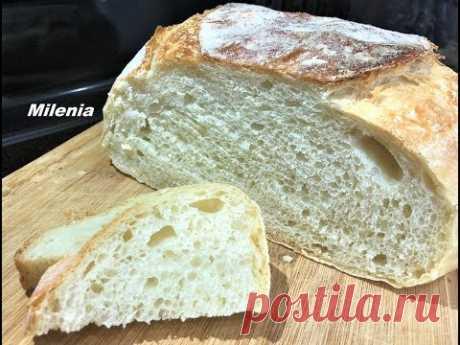 ДОМАШНИЙ ХЛЕБУШЕК за 5 мин Вашего времени. Самый простой рецепт. Хлеб можно не покупать.