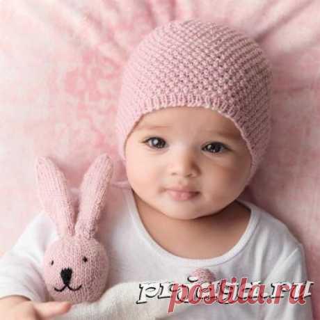 Шапочка для новорожденного спицами