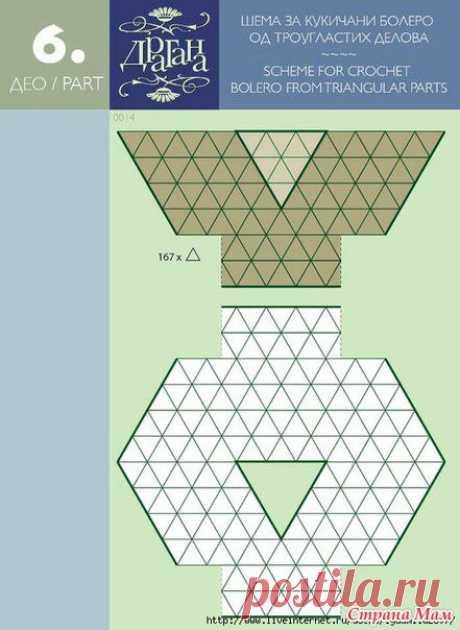 Схемы выкроек при вязании мотивами - Вязание - Страна Мам