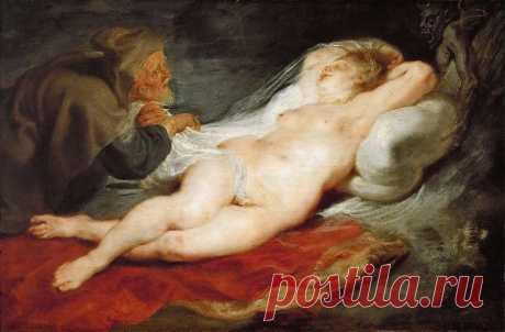 Отшельник и спящая Анжелика - 1626 - 1628. Питер Пауль Рубенс. Описание картины, скачать репродукцию.