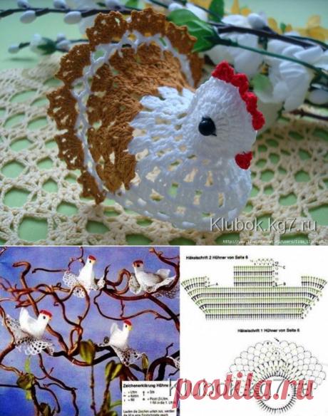 Пасхальные зайчики и пасхальные курочки - схема вязания фото | Клубок